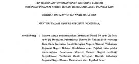 PERATURAN MENTERI DALAM NEGERI RI NOMOR 133 TAHUN 2018 TTG PENYELESAIAN TGR TERHADAP PNS BUKAN BENDAHARA